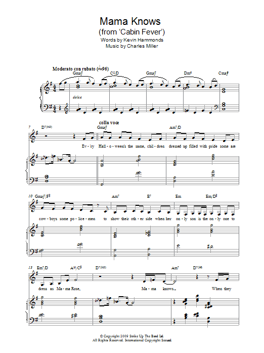 Mama Knows (from Cabin Fever) Sheet Music