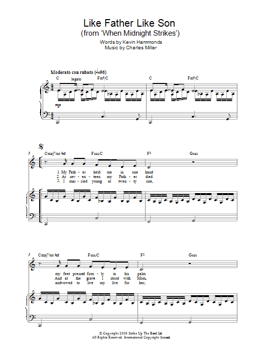 Like Father Like Son (from When Midnight Strikes) Sheet Music
