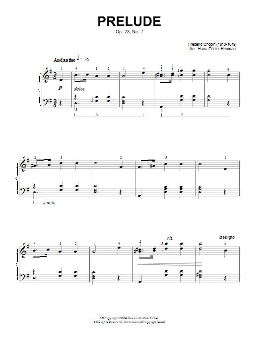 Prelude Op. 28, No. 7 (Piano Solo)