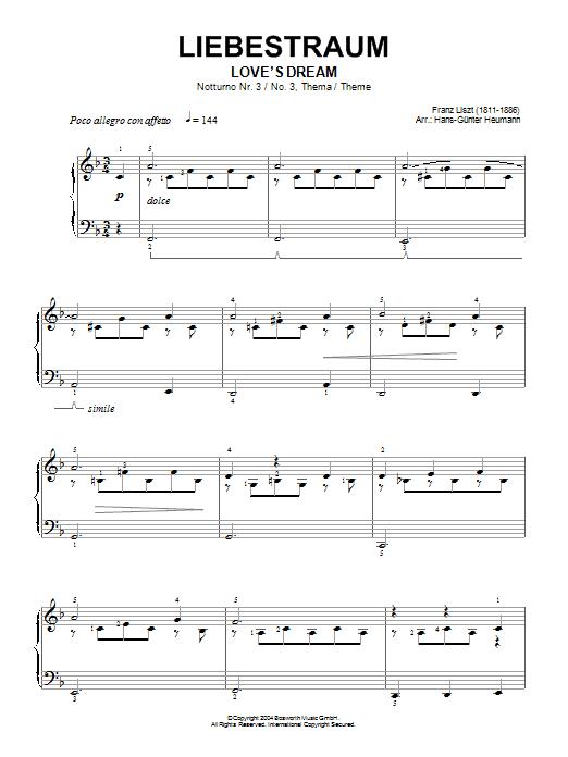 Liebestraum, Notturno No. 3 (Love's Dream) Sheet Music