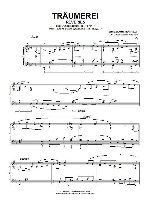 Traumerei Op.15 No.7 Partition Digitale