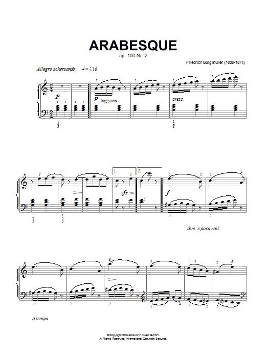 Arabesque, Op.100, No.2 Sheet Music