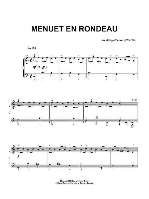 Menuet En Rondeau Sheet Music