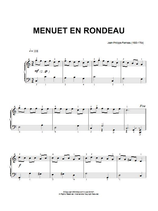Menuet En Rondeau (Piano Solo)