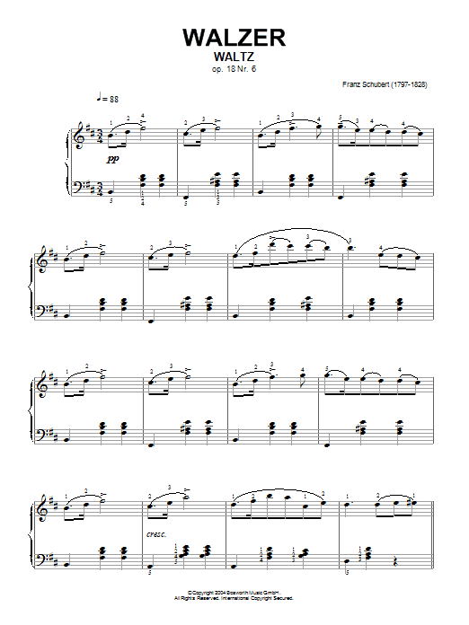 Waltz Op.18, No.6 Sheet Music
