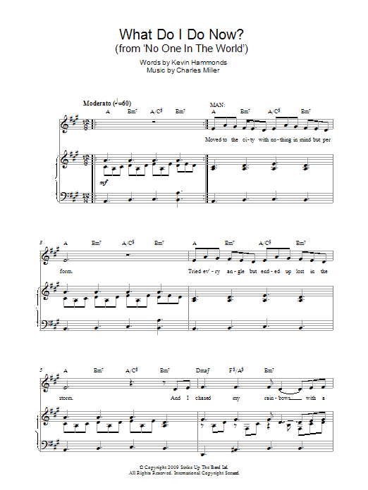 What Do I Do Now? (from No One In The World) Sheet Music
