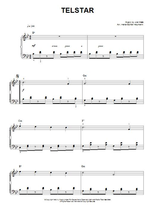 Telstar Sheet Music