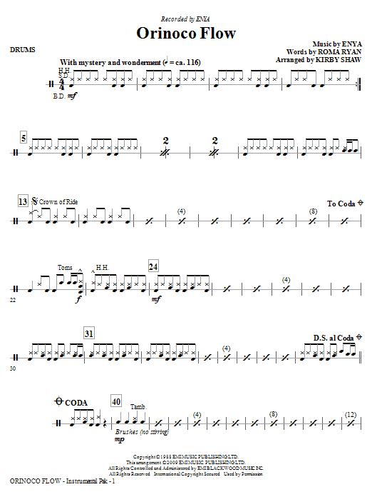 Orinoco Flow (arr. Kirby Shaw) - Drums (Choir Instrumental Pak)