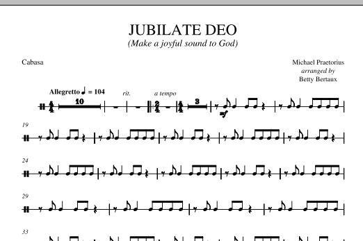 Jubilate Deo - Cabasa Sheet Music