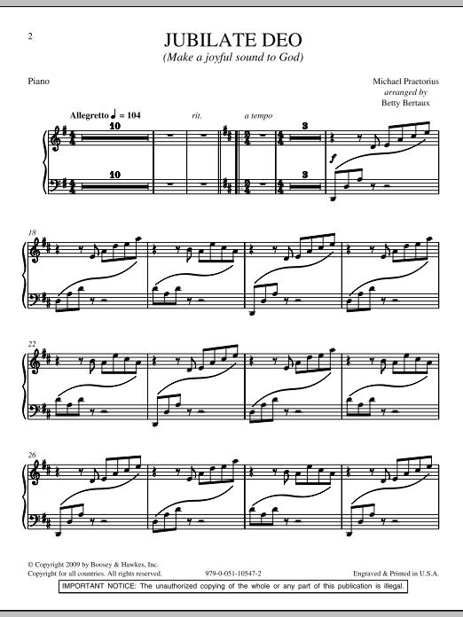 Jubilate Deo - Piano Sheet Music