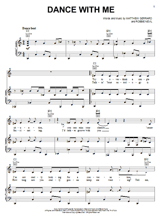 Dance With Me Sheet Music