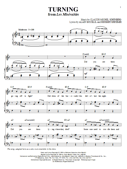Turning (Piano & Vocal)