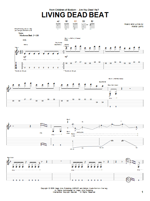 Living Dead Beat Sheet Music