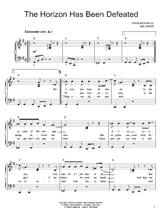 The Horizon Has Been Defeated Sheet Music