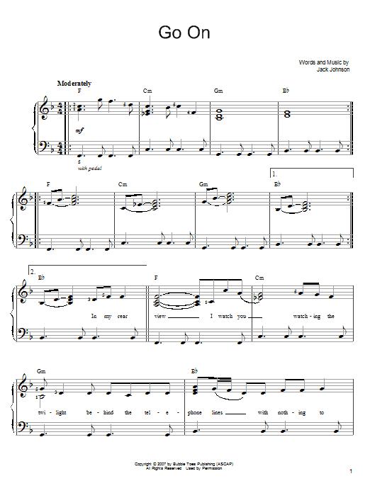 Go On (Easy Piano)