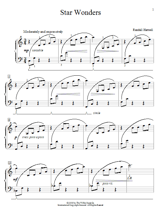 Star Wonders Sheet Music