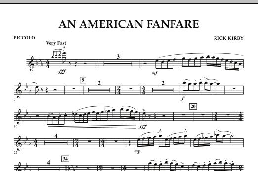 An American Fanfare - Piccolo (Concert Band)