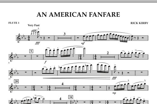 An American Fanfare - Flute 1 (Concert Band)