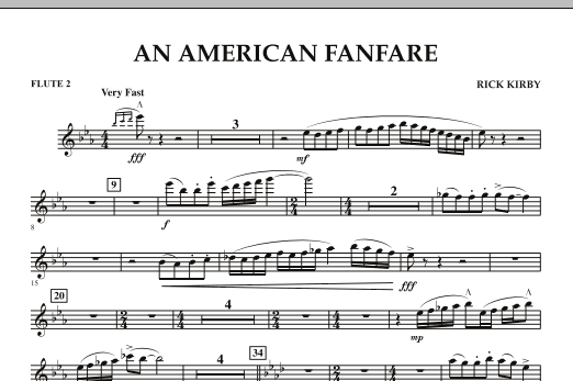 An American Fanfare - Flute 2 (Concert Band)