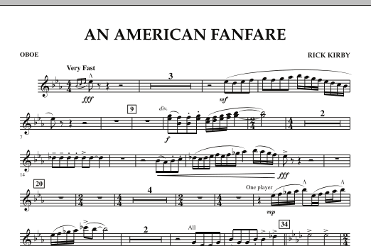 An American Fanfare - Oboe (Concert Band)