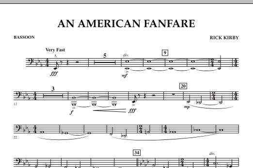 An American Fanfare - Bassoon (Concert Band)