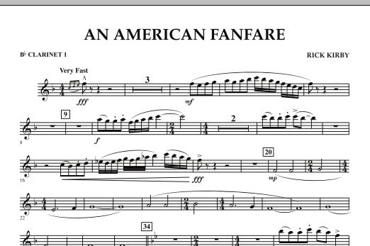 An American Fanfare - Bb Clarinet 1 (Concert Band)
