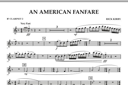 An American Fanfare - Bb Clarinet 2 (Concert Band)