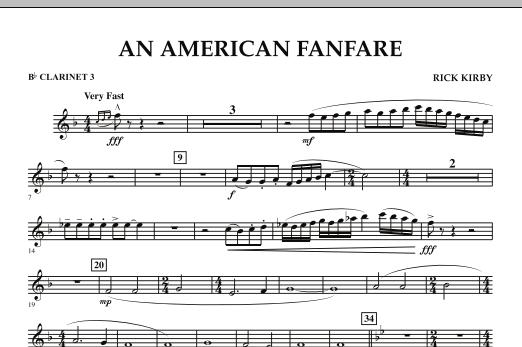 An American Fanfare - Bb Clarinet 3 (Concert Band)