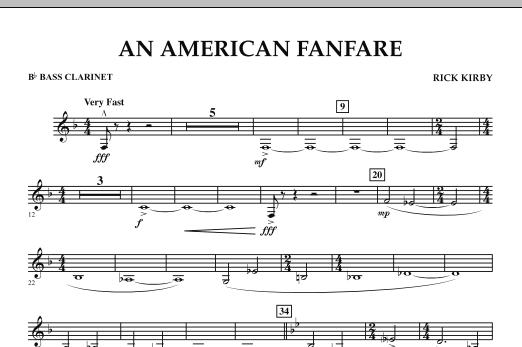 An American Fanfare - Bb Bass Clarinet (Concert Band)