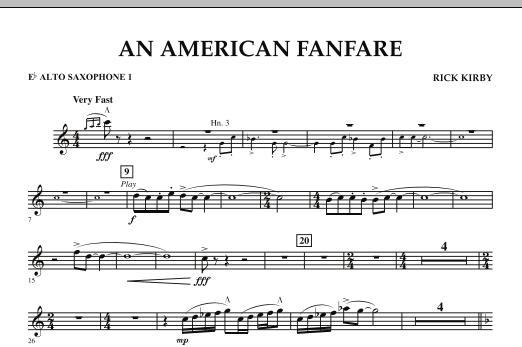 An American Fanfare - Eb Alto Saxophone 1 (Concert Band)