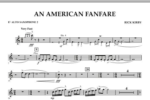 An American Fanfare - Eb Alto Saxophone 2 (Concert Band)