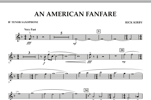 An American Fanfare - Bb Tenor Saxophone (Concert Band)