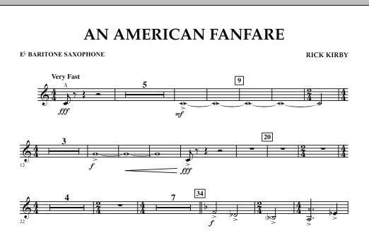 An American Fanfare - Eb Baritone Saxophone (Concert Band)