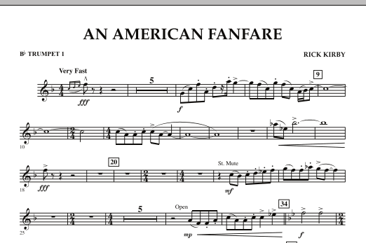 An American Fanfare - Bb Trumpet 1 (Concert Band)