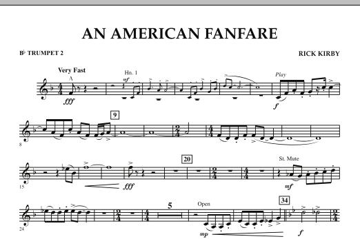 An American Fanfare - Bb Trumpet 2 (Concert Band)