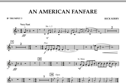 An American Fanfare - Bb Trumpet 3 (Concert Band)