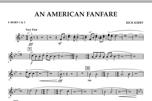 An American Fanfare - F Horn 1 & 2 (Concert Band)