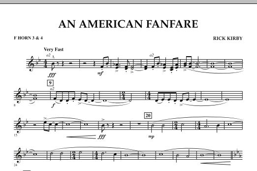 An American Fanfare - F Horn 3 & 4 (Concert Band)