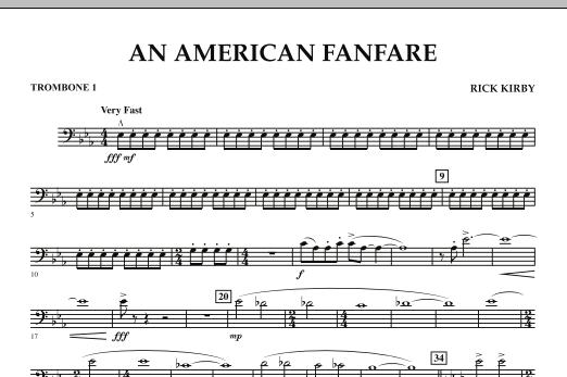 An American Fanfare - Trombone 1 (Concert Band)