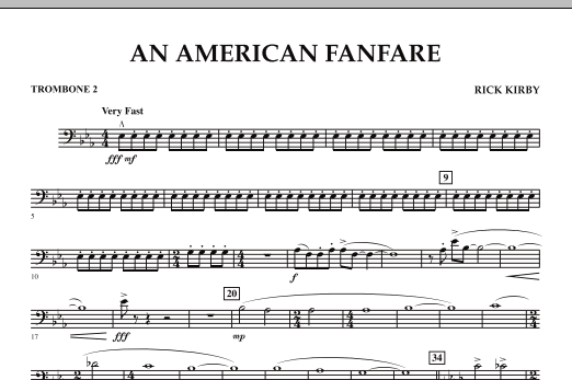 An American Fanfare - Trombone 2 (Concert Band)