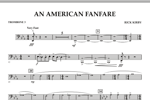 An American Fanfare - Trombone 3 (Concert Band)