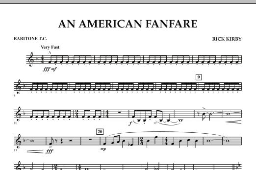 An American Fanfare - Baritone T.C. (Concert Band)