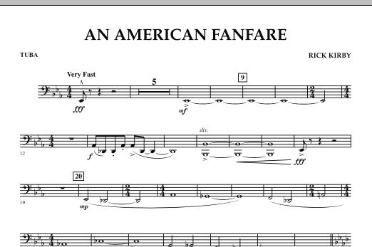 An American Fanfare - Tuba (Concert Band)