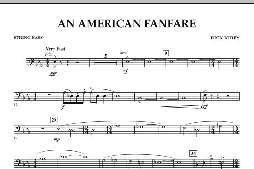 An American Fanfare - String Bass (Concert Band)