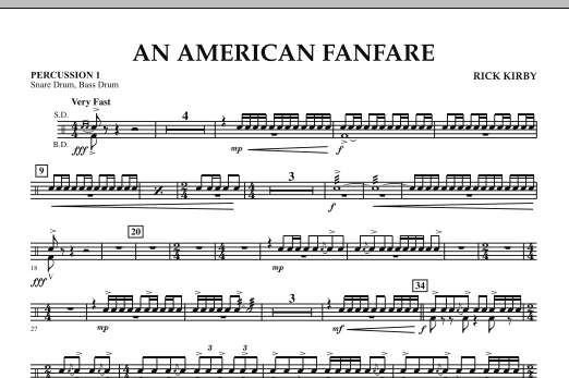 An American Fanfare - Percussion 1 (Concert Band)