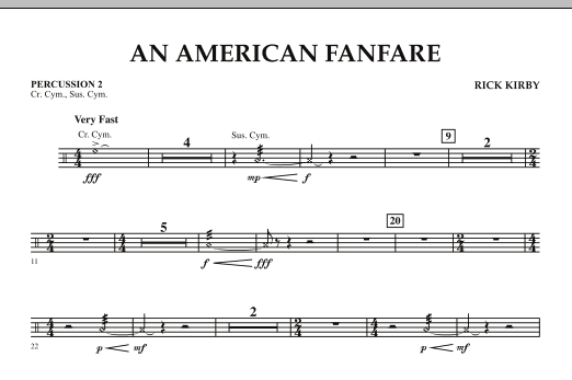 An American Fanfare - Percussion 2 (Concert Band)