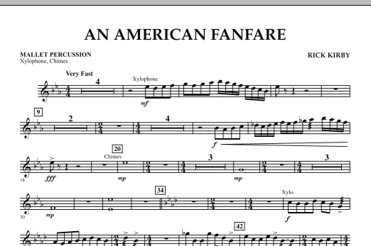 An American Fanfare - Mallet Percussion (Concert Band)