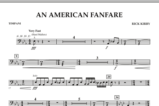 An American Fanfare - Timpani (Concert Band)