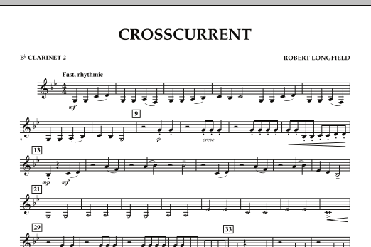 Crosscurrent - Bb Clarinet 2 (Concert Band)