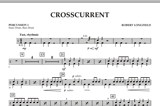 Crosscurrent - Percussion 1 (Concert Band)